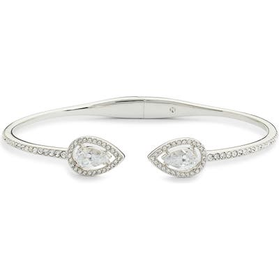 Nadri Pear Halo Hinge Bracelet