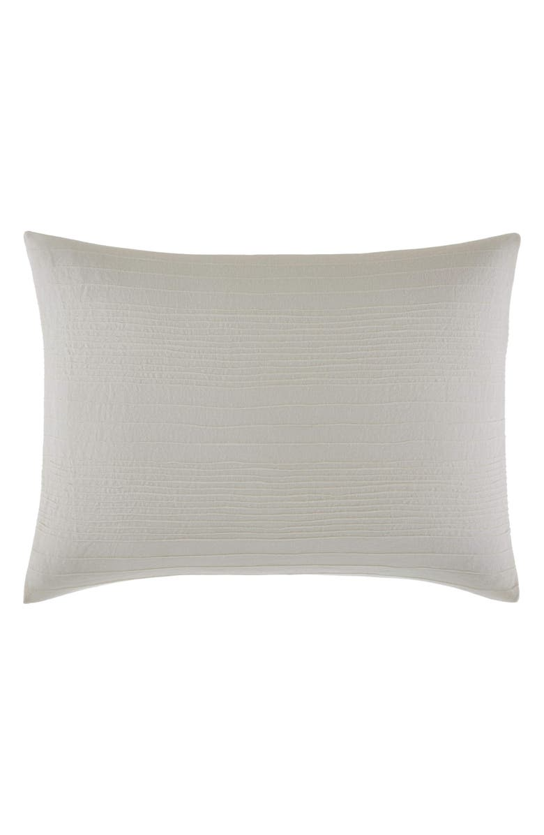 VERA WANG Stitched Tuck Breakfast Accent Pillow, Main, color, NATURAL