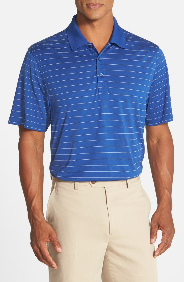 CUTTER & BUCK Franklin Stripe DryTec<sup>®</sup> Polo, Main, color, TOUR BLUE/ WHITE