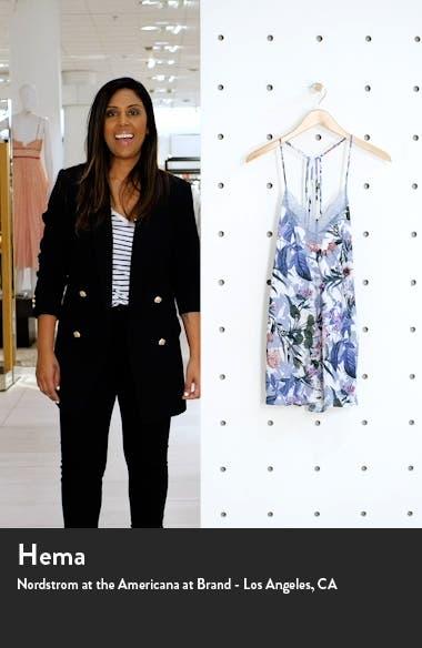 Michelle Lace Trim Floral Chemise, sales video thumbnail