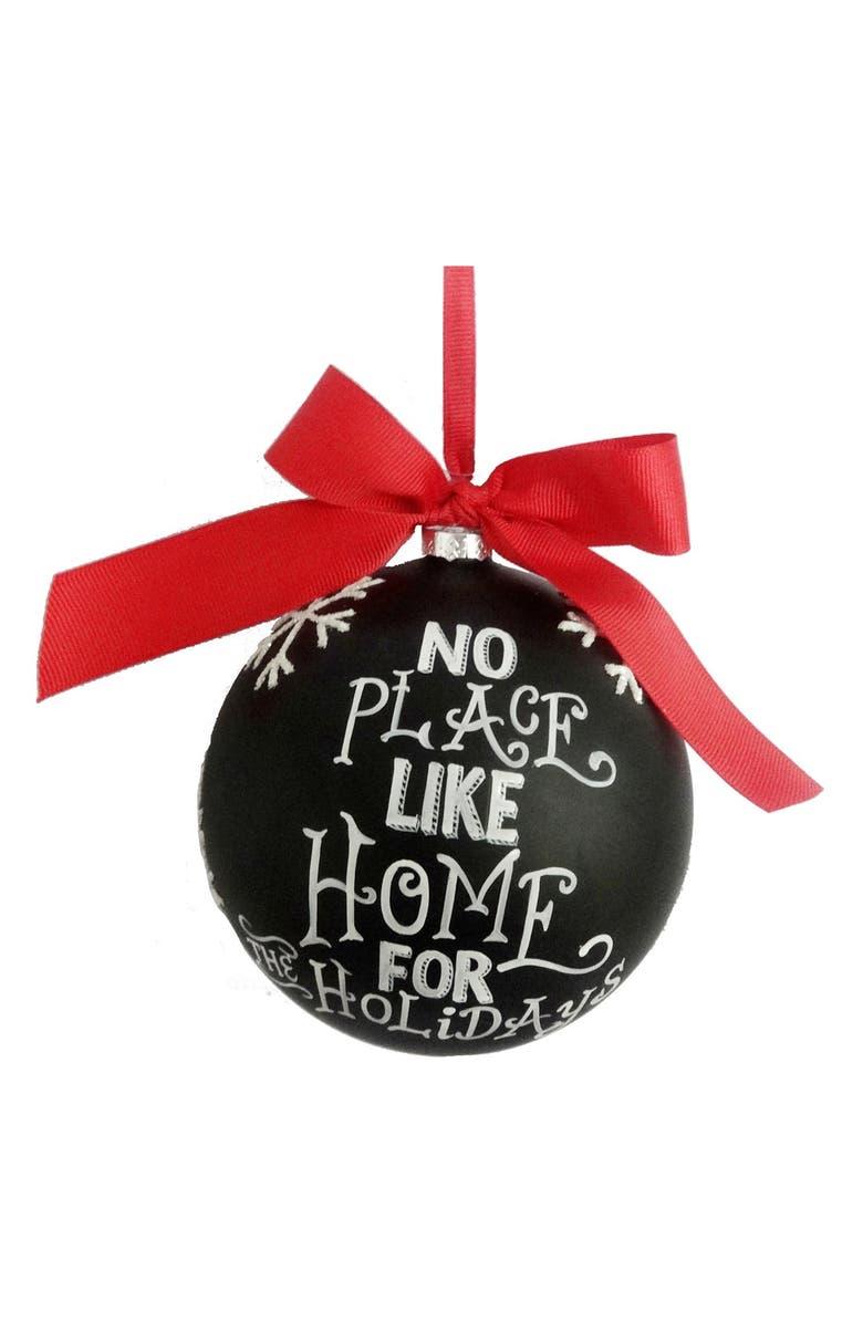 SAGE & CO . 'No Place Like Home' Chalkboard Ornament, Main, color, Black