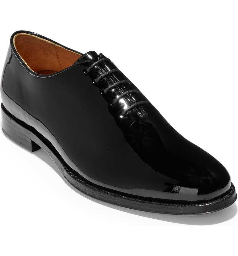 COLE HAAN American Classics Gramercy Whole Cut Shoe, Main, color, BLACK PATENT LEATHER