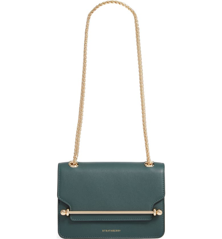 STRATHBERRY Mini East/West Leather Crossbody Bag, Main, color, BOTTLE GREEN