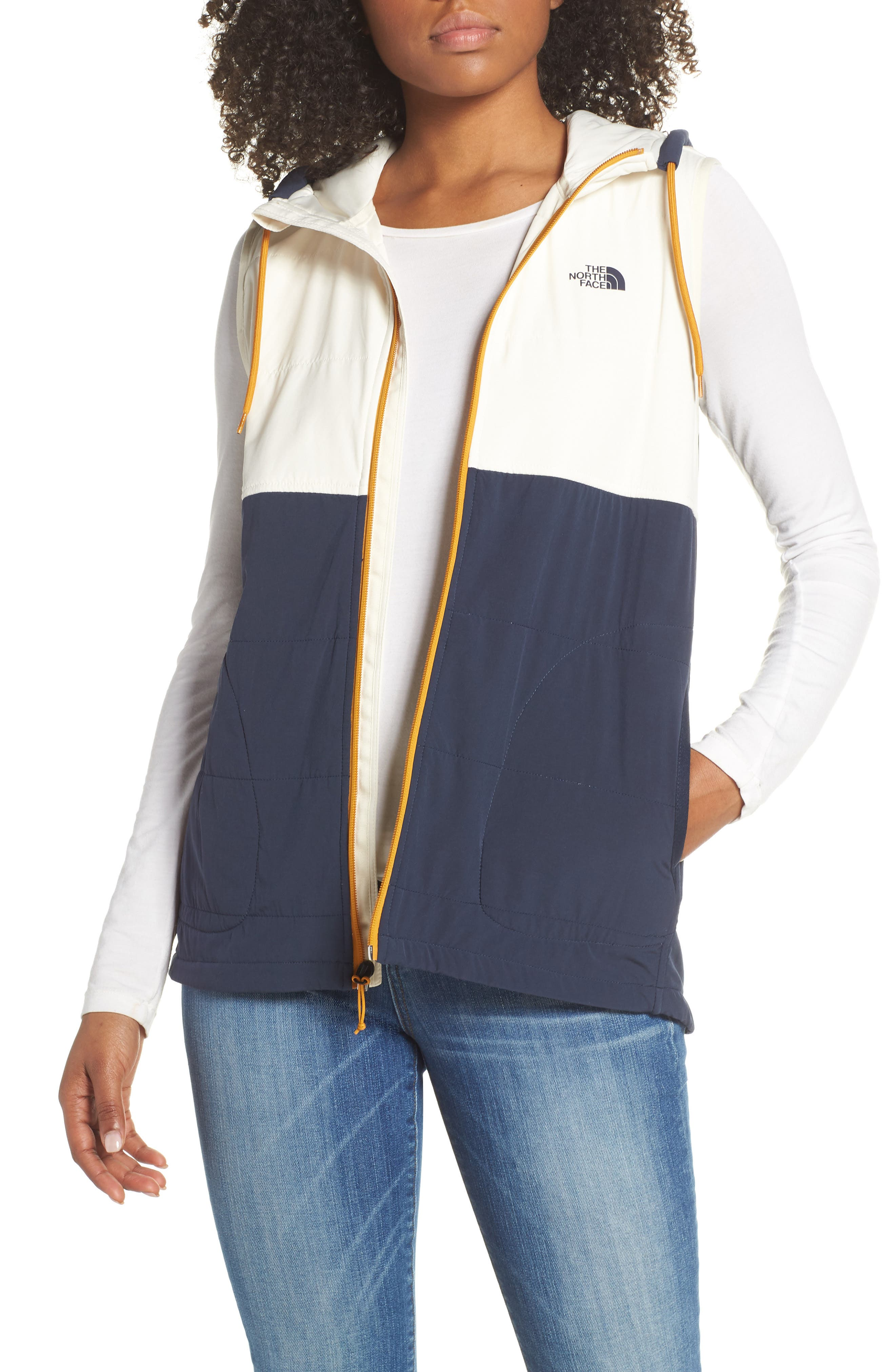 The North Face Mountain Insulated Zip Hooded Vest, Blue