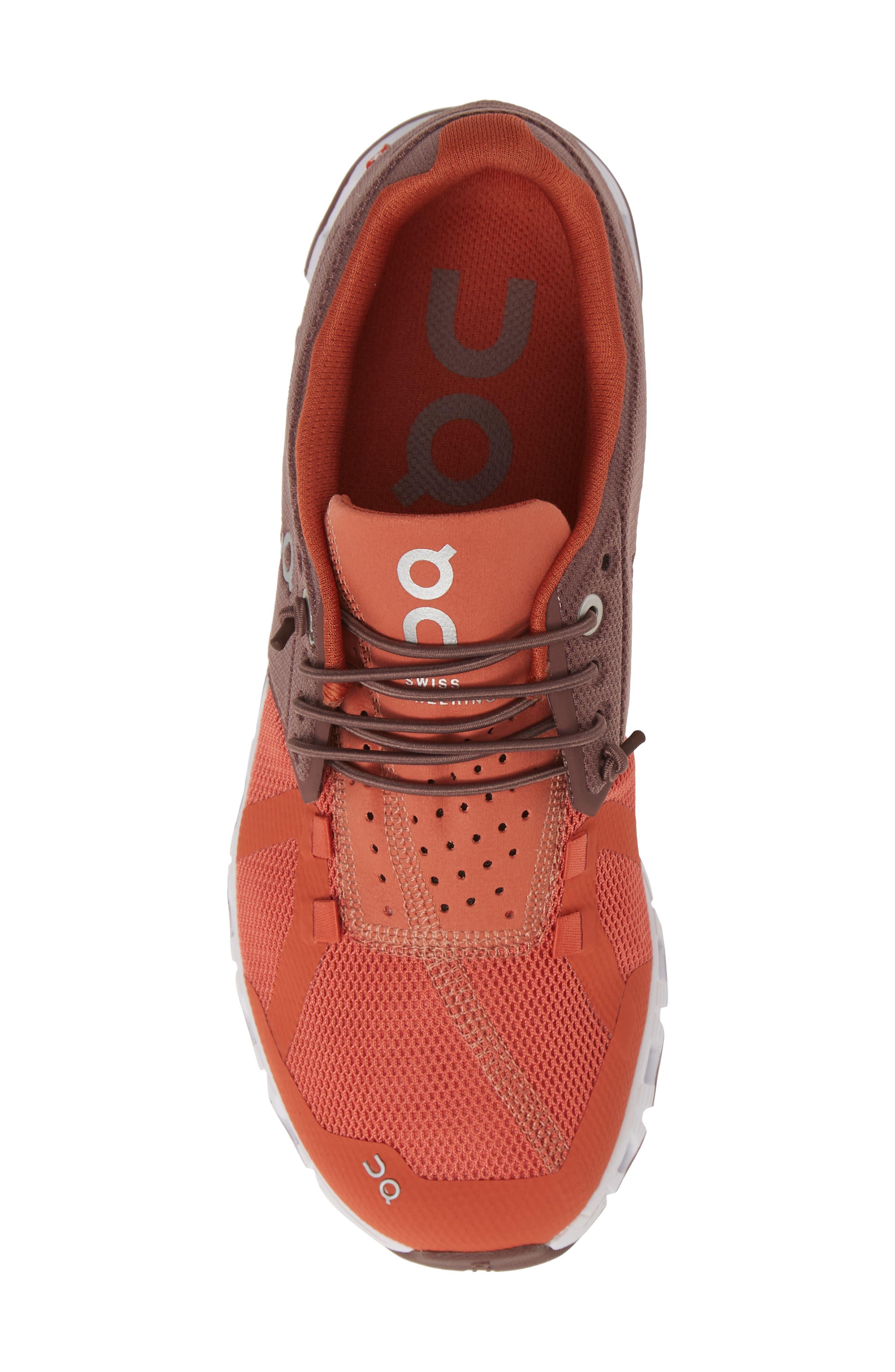 ,                             Cloud 50/50 Colorblock Running Shoe,                             Alternate thumbnail 5, color,                             GRAPE/ GINGER