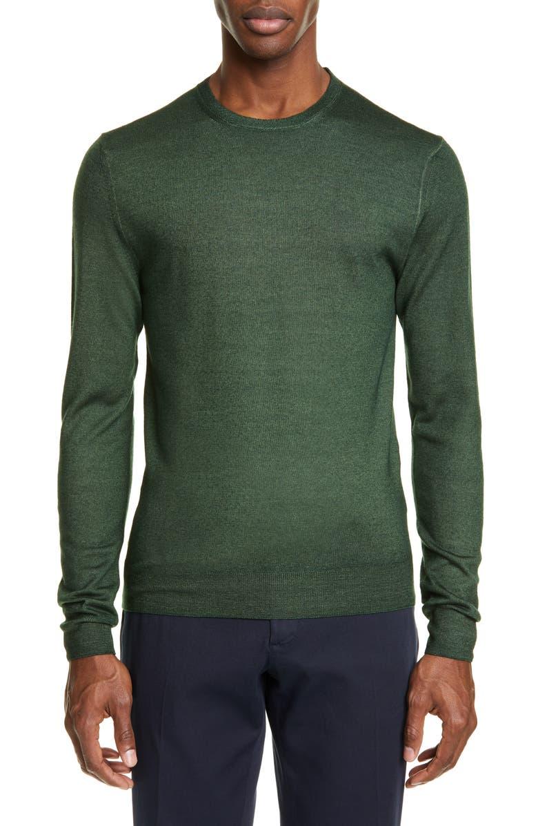 BOGLIOLI Crewneck Wool Sweater, Main, color, OLIVE