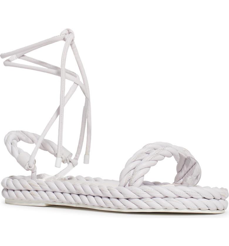 VALENTINO GARAVANI Valentino The Rope Strappy Platform Sandal, Main, color, 100