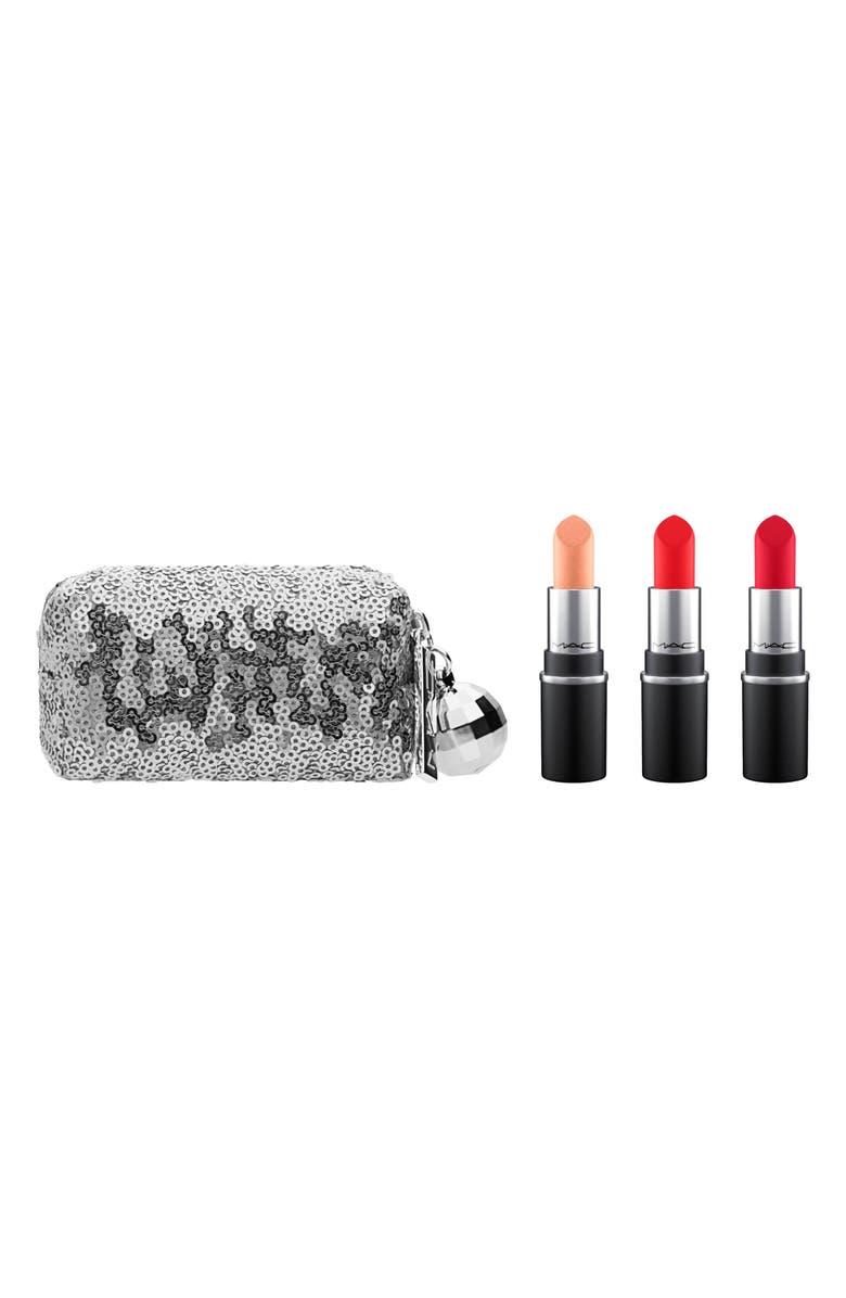 MAC COSMETICS MAC Snow Ball Warm Mini Lipstick Kit, Main, color, 600