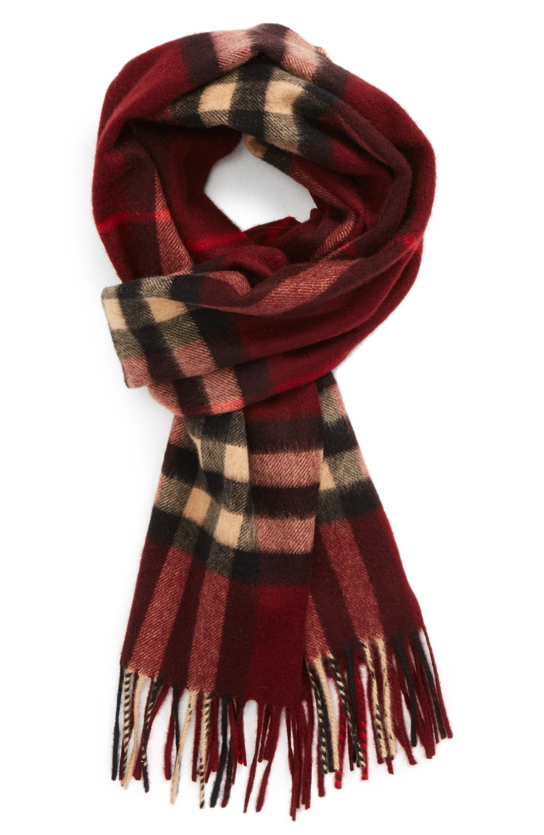 ,                             Heritage Check Cashmere Scarf,                             Main thumbnail 36, color,                             602