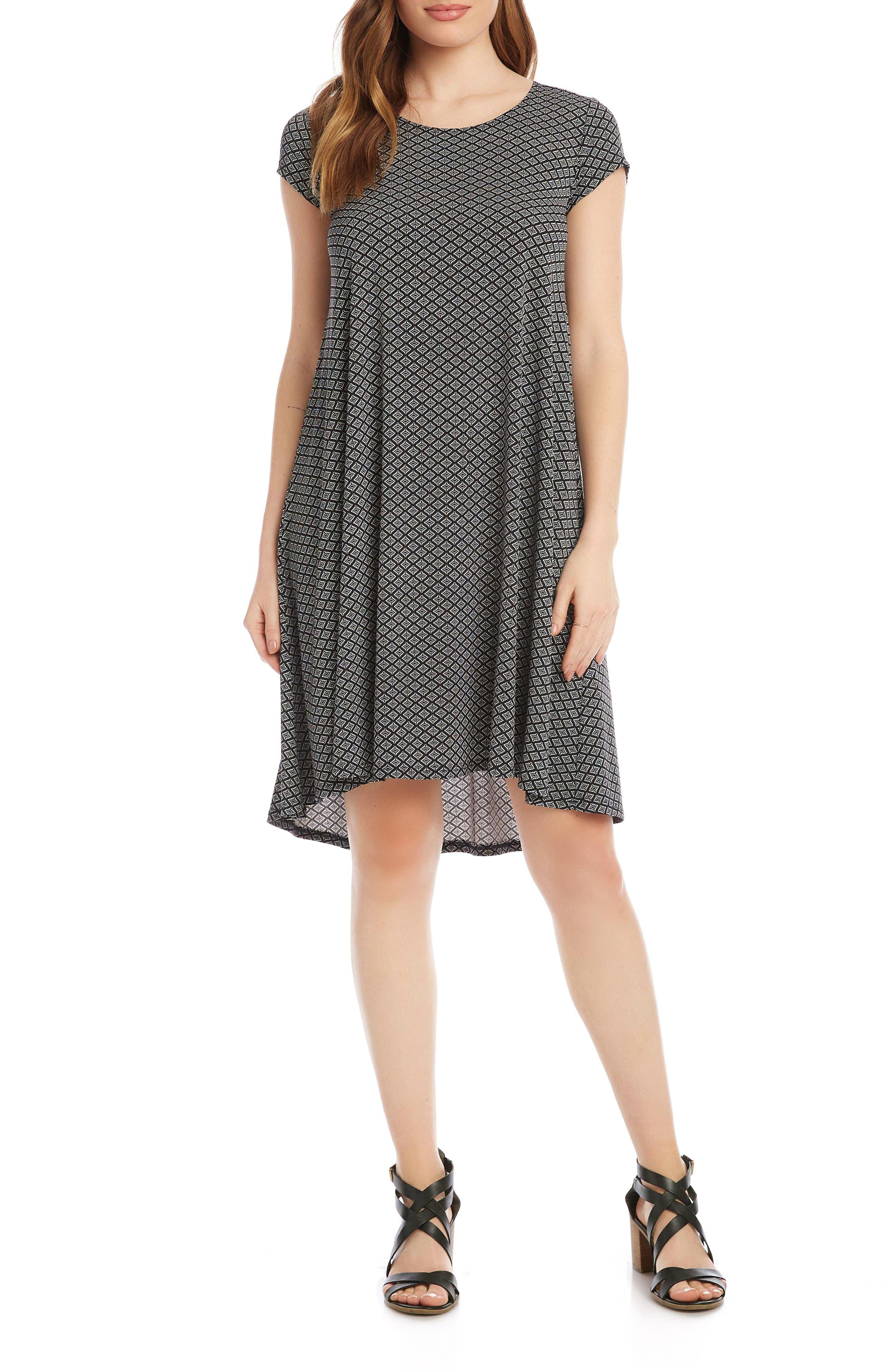 Maggie Geo Print Trapeze Dress