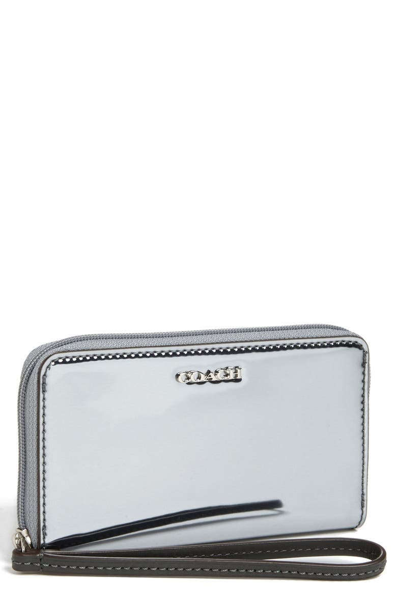 COACH 'Legacy - Mirror Metallic' Phone Wristlet, Main, color, 045