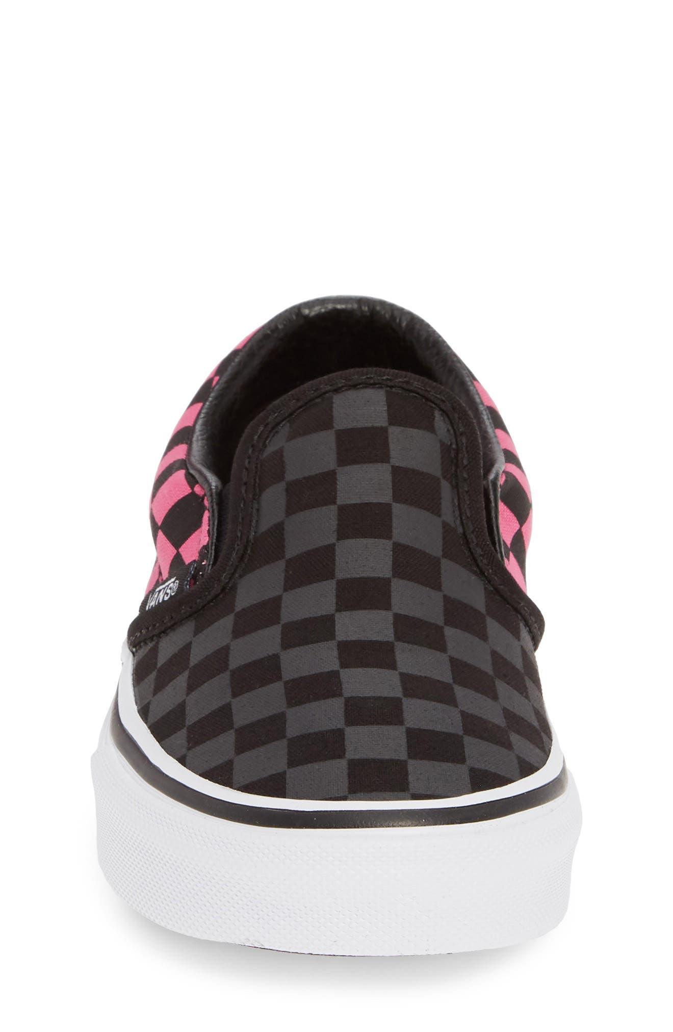 ,                             Classic Checker Slip-On,                             Alternate thumbnail 4, color,                             CARMINE ROSE/ BLACK