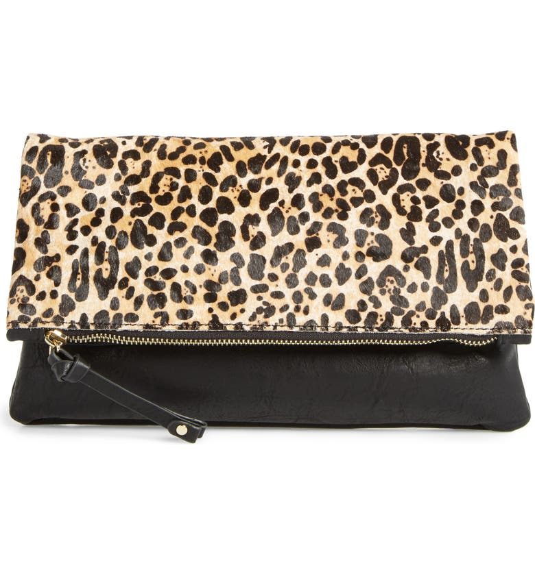 SOLE SOCIETY 'Marlena' Faux Leather Foldover Clutch, Main, color, 200