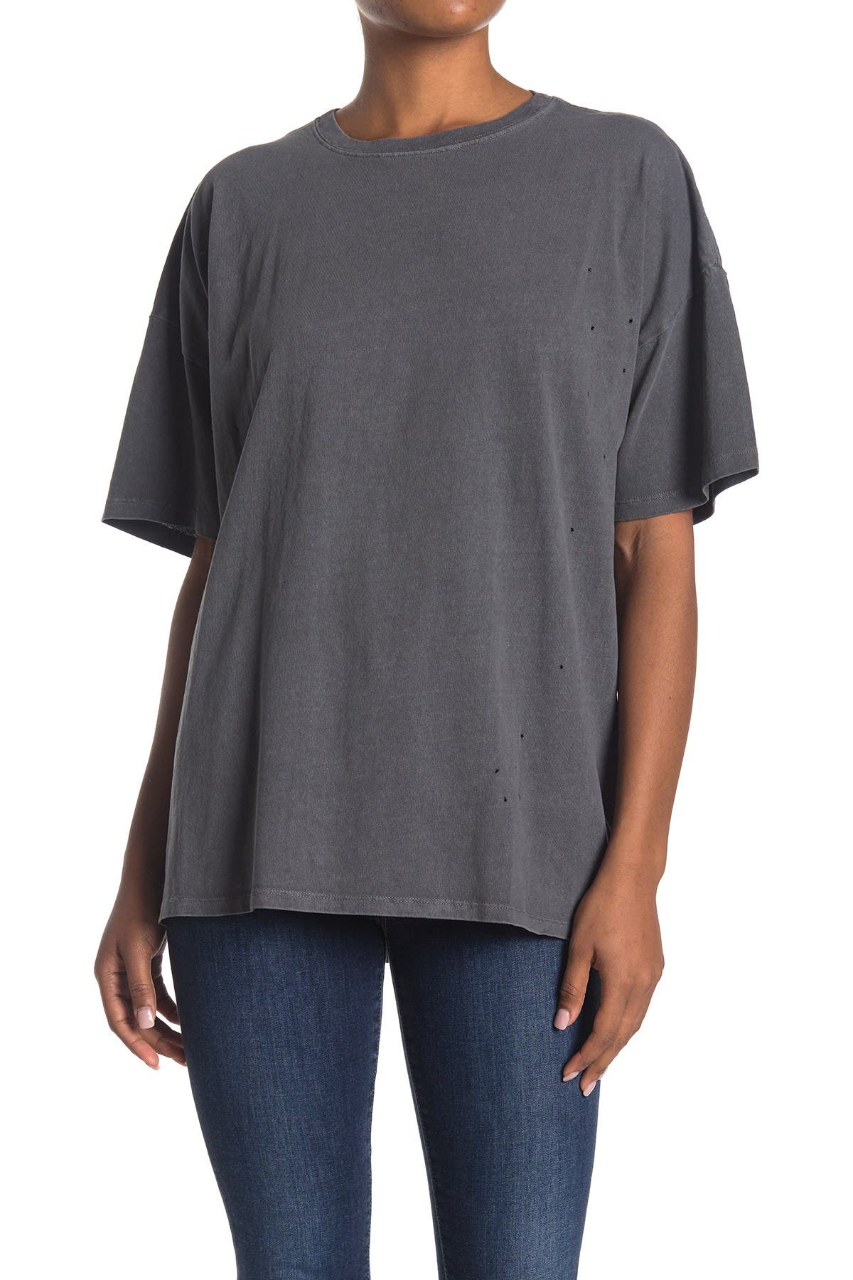Image of Double Zero Distressed Oversized T-Shirt