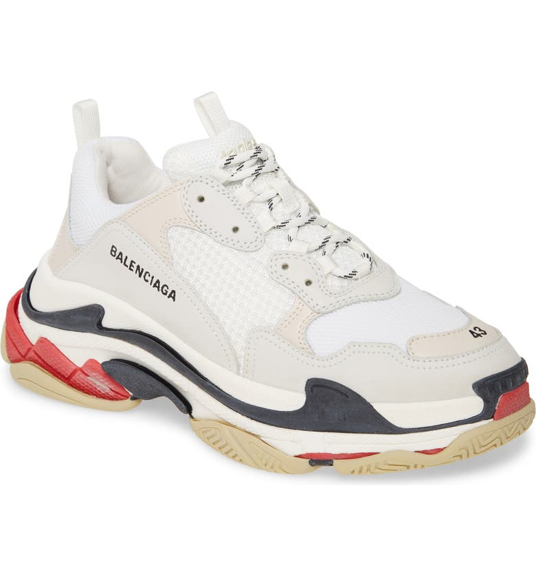 BALENCIAGA Triple S Retro Sneaker, Main, color, BLANC MULTI