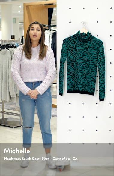 Tiger Stripe Turtleneck Wool Sweater, sales video thumbnail