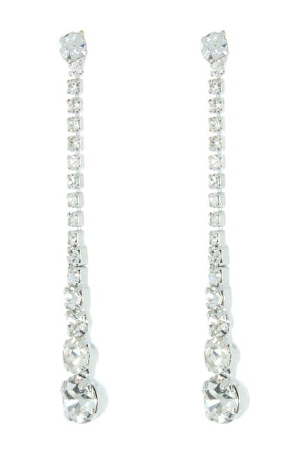 Image of CRISTABELLE Crystal Linear Drop Earrings