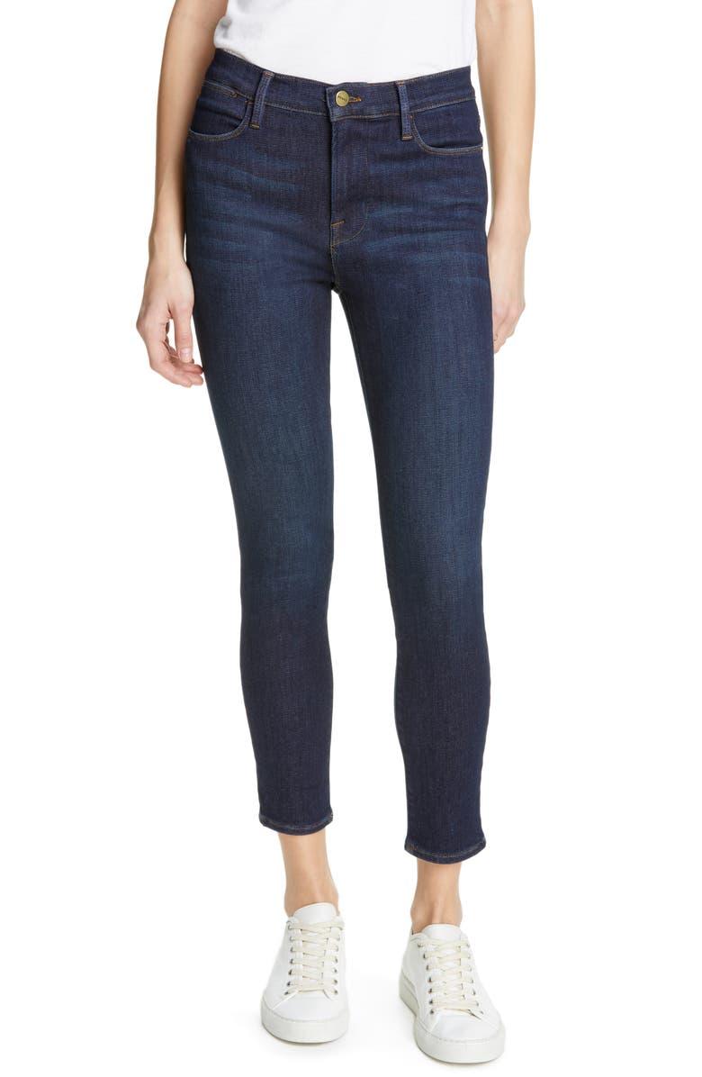 FRAME Le High Waist Crop Skinny Jeans, Main, color, SAMIRA