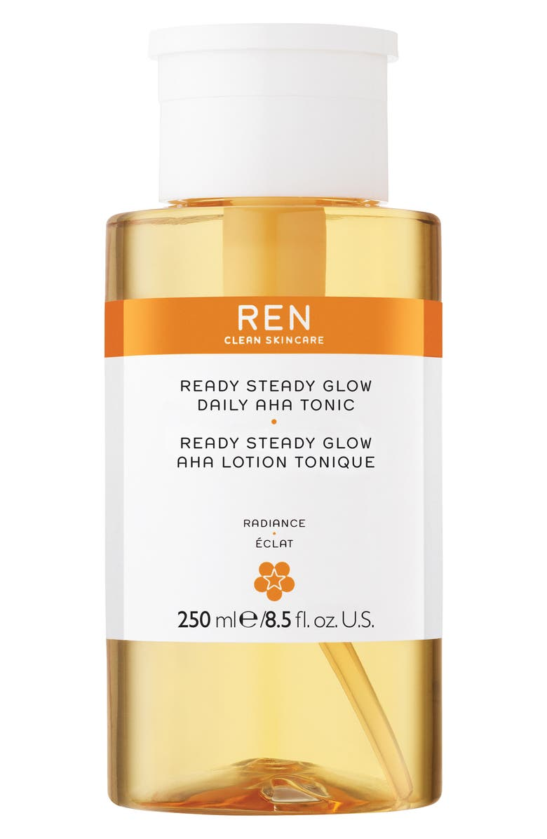 REN CLEAN SKINCARE Steady Glow Daily AHA Tonic, Main, color, 000