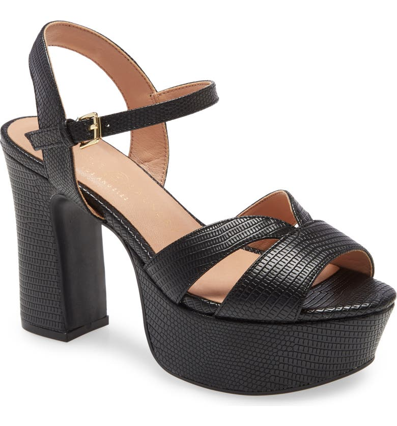 CHINESE LAUNDRY Daydreamer Platform Sandal, Main, color, BLACK FAUX LEATHER