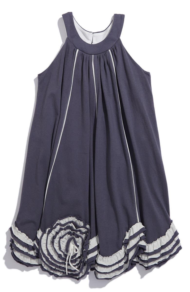 ISOBELLA & CHLOE 'Victorian Swirl' Trapeze Dress, Main, color, 020