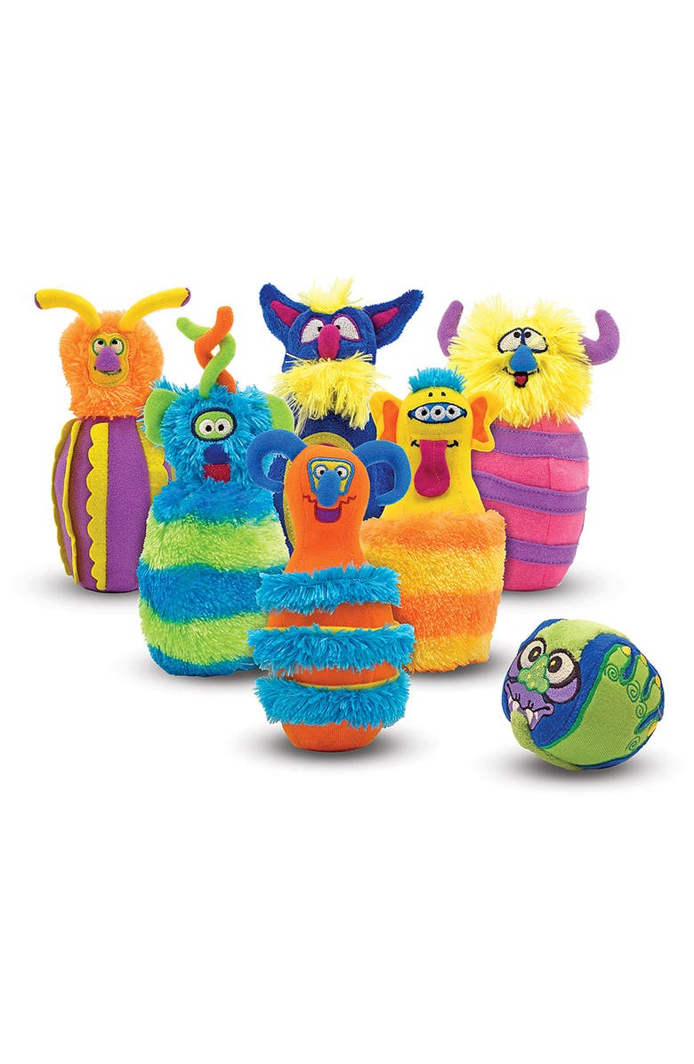 MELISSA & DOUG 'Monster' Bowling Set, Main, color, MULTI