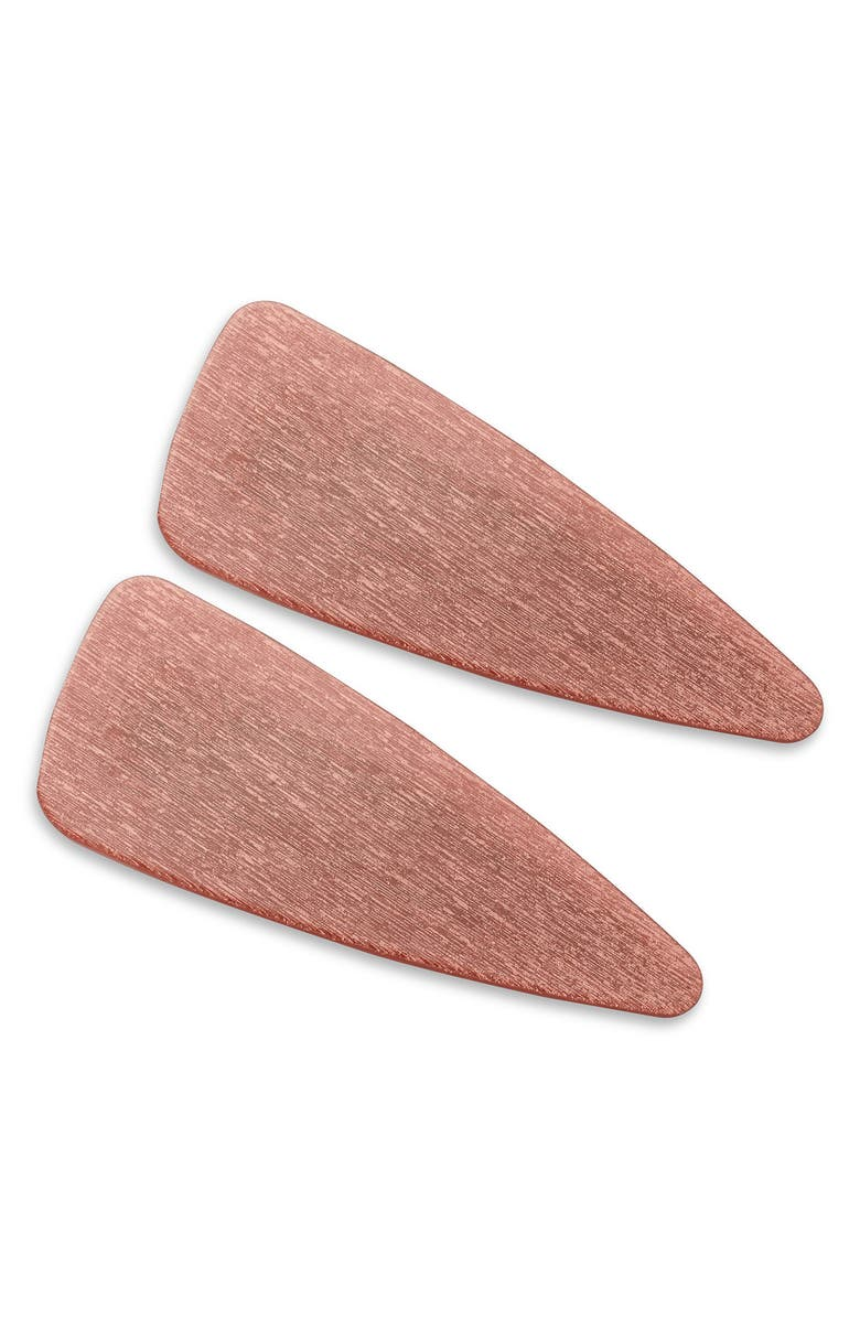 VALET STUDIO Gia 2-Pack Hair Clips, Main, color, PINK