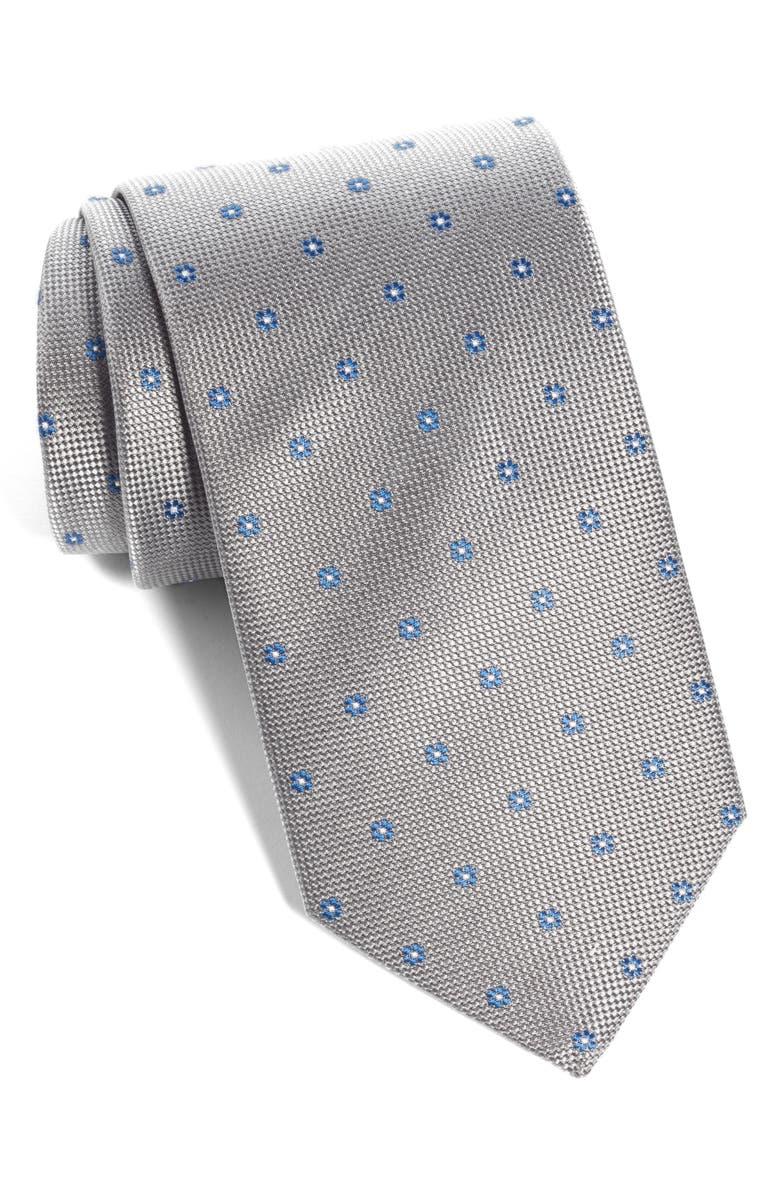 ETON Floral Silk Tie, Main, color, 020
