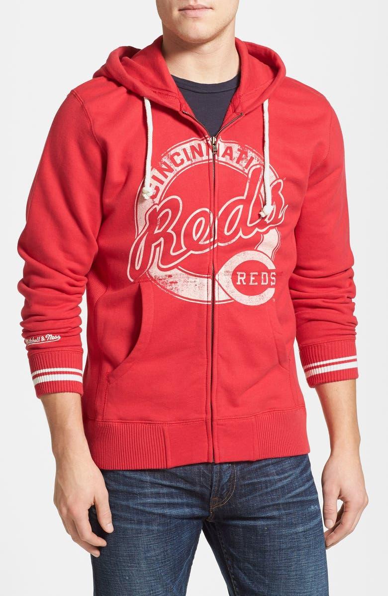 timeless design 8a4dc 56304 Mitchell & Ness 'Cincinnati Reds' Full Zip Hoodie | Nordstrom