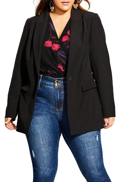 City Chic Blazers SIMPLY SUITED BLAZER