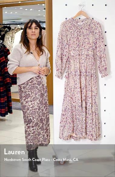 Likoya Floral Ruffle Midi Dress, sales video thumbnail