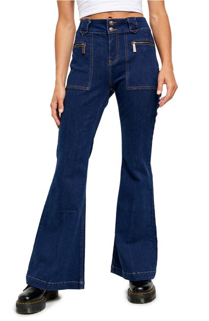 Free People Jeans LAYLA HIGH WAIST FLARE JEANS