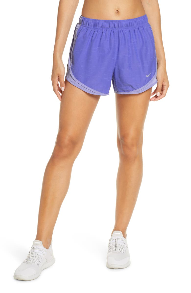 NIKE Dry Tempo Running Shorts, Main, color, SAPHRE/WLFGRY