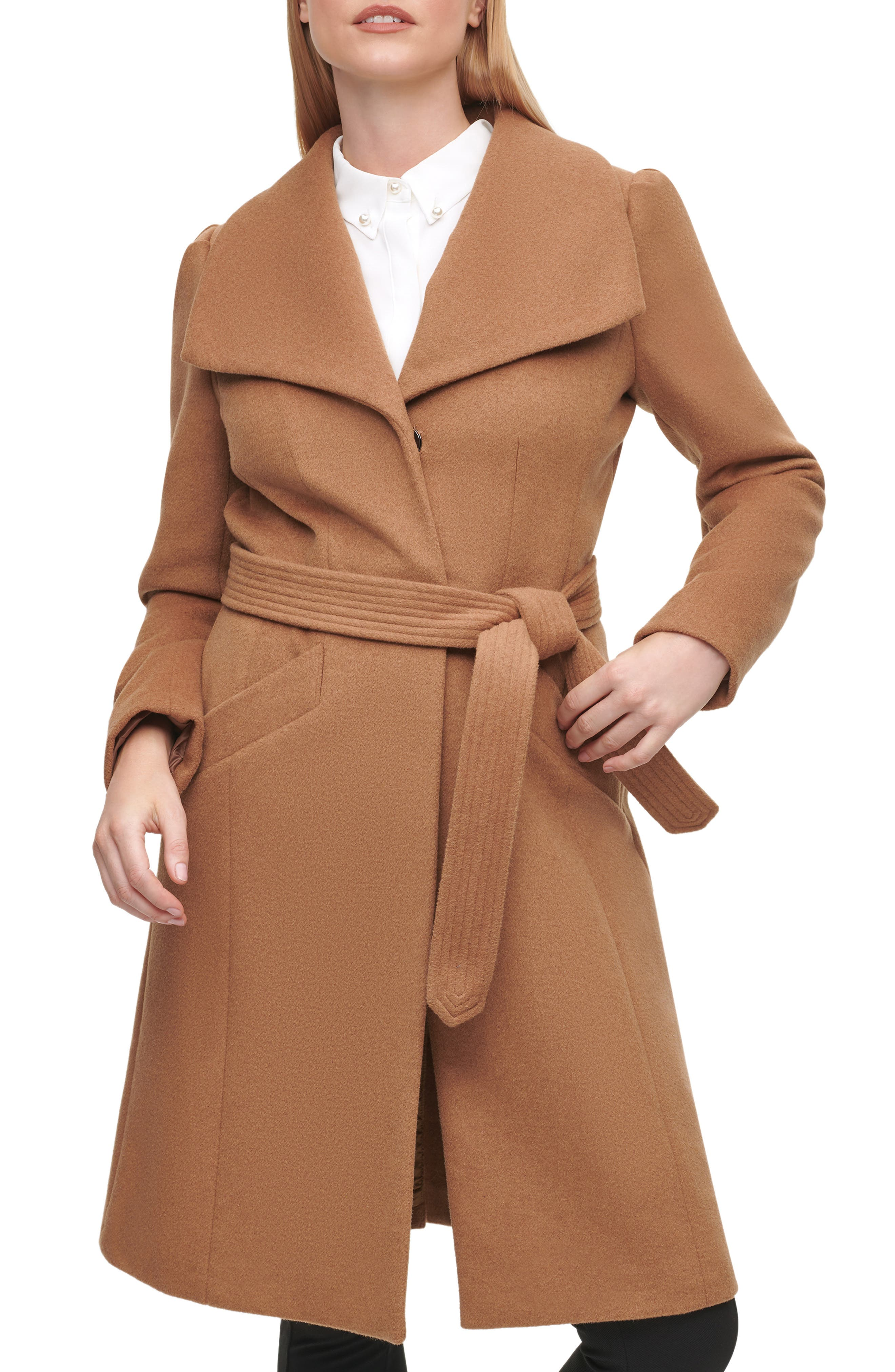 Wool Belted Wrap Coat