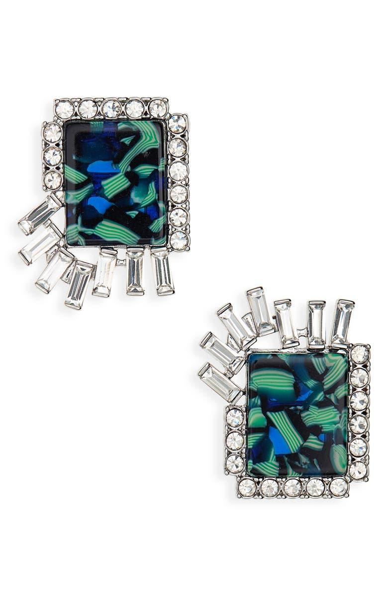 LELE SADOUGHI Rectangle Stud Earrings, Main, color, 300