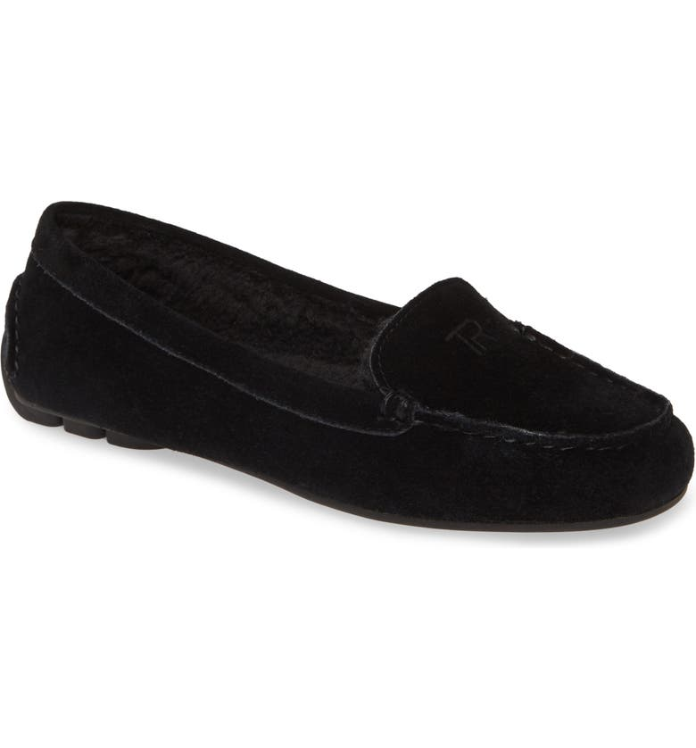 TARYN ROSE Kate Driving Loafer, Main, color, BLACK SUEDE