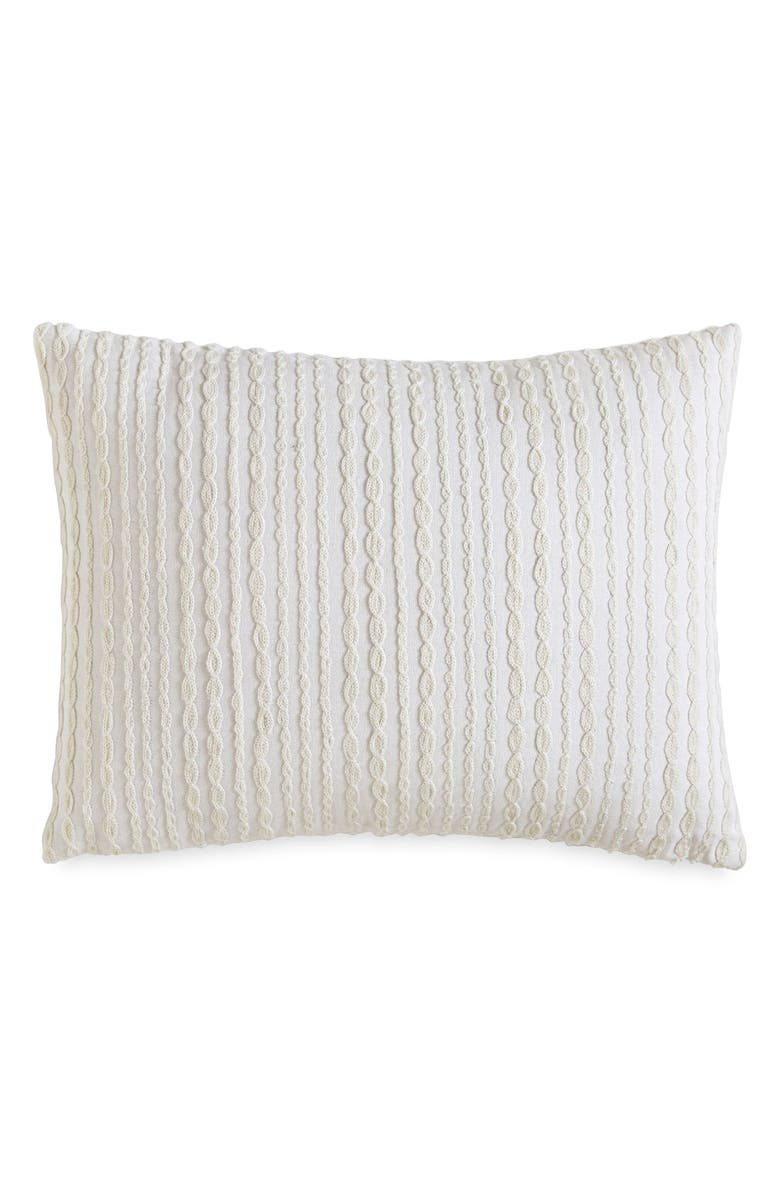 DKNY 'City Pleat' Pillow, Main, color, 100