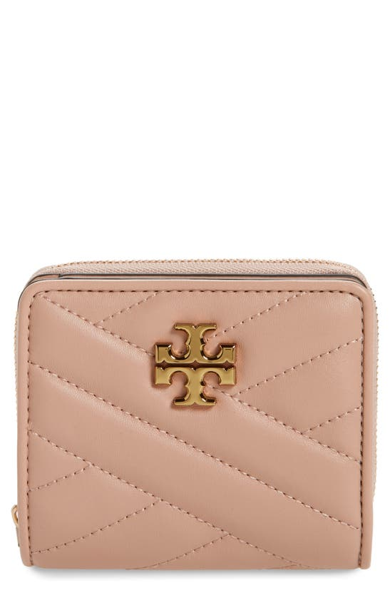 Tory Burch Kira Chevron Quilted Bifold Wallet In Devon Sand