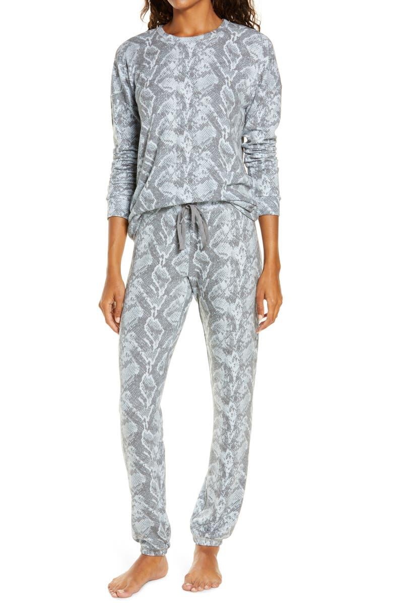 PJ SALVAGE Animal Instinct Pajamas, Main, color, LIGHT BLUE