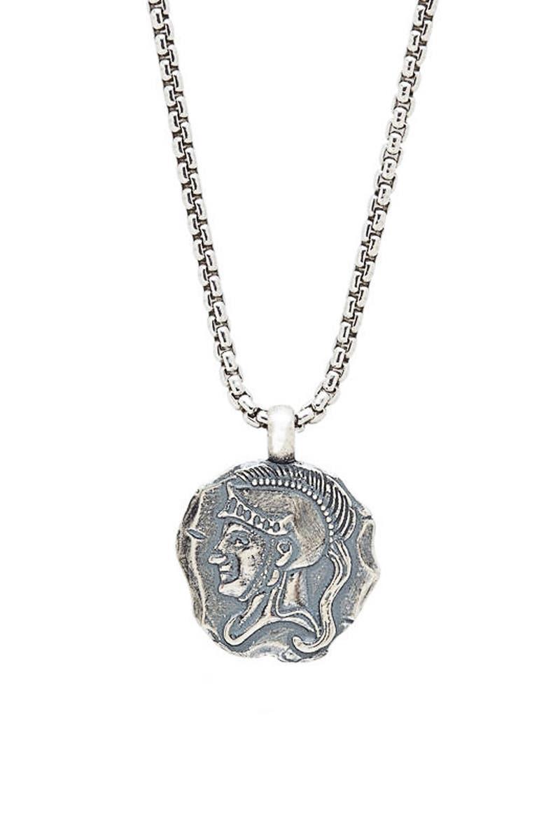 DEGS & SAL Spartan Pendant Necklace, Main, color, SILVER