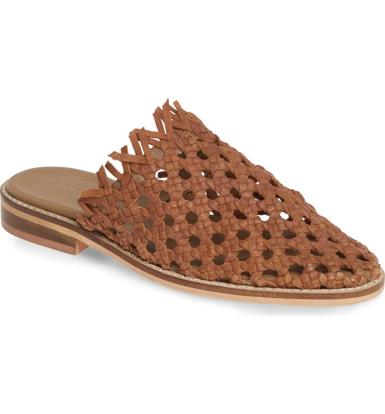 FREE PEOPLE Mirage Woven Mule, Main, color, BROWN