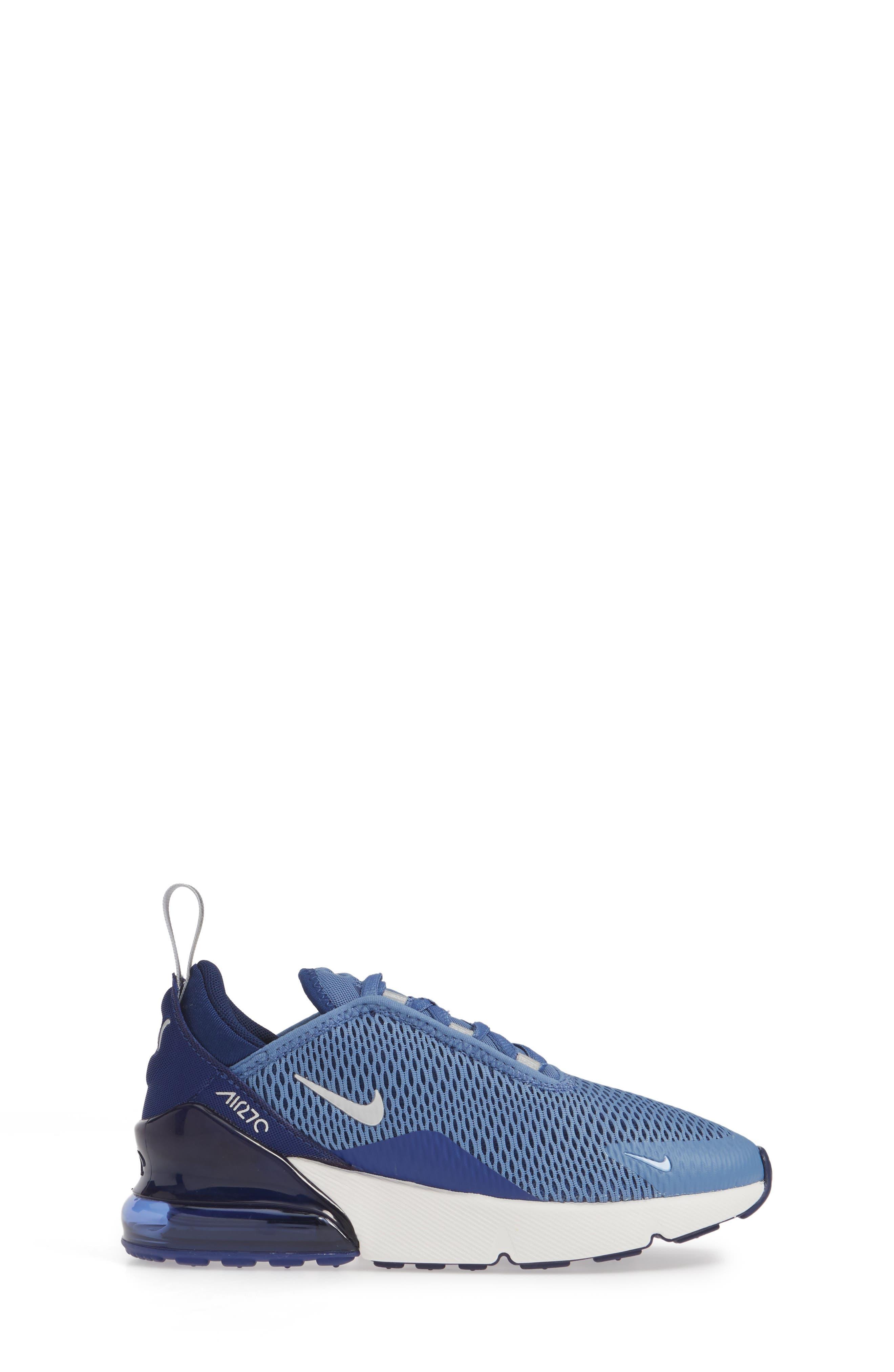 ,                             Air Max 270 Sneaker,                             Alternate thumbnail 3, color,                             INDIGO STORM/ METALLIC SILVER