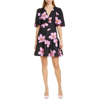Kate Spade New York Grand Flora Cotton Dress, Black