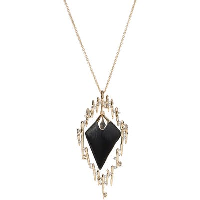 Alexis Bittar Spiked Framed Long Pendant Necklace