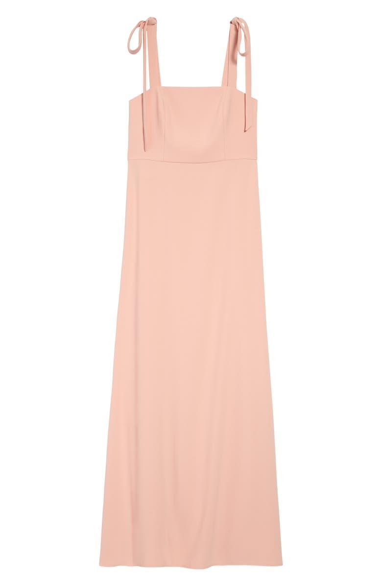 DESSY COLLECTION Shoulder Tie Crepe Gown, Main, color, 663