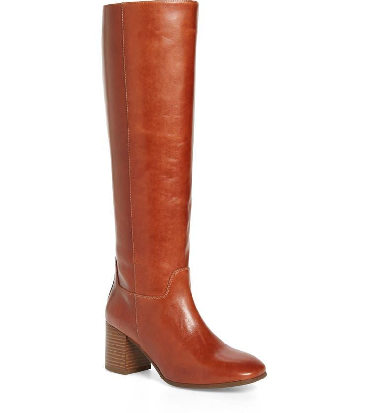 VAGABOND SHOEMAKERS Vagabond Nicole Knee-High Boot, Main, color, CINNAMON LEATHER