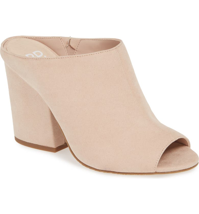 BP. Gretta Sandal, Main, color, BLUSH FAUX SUEDE