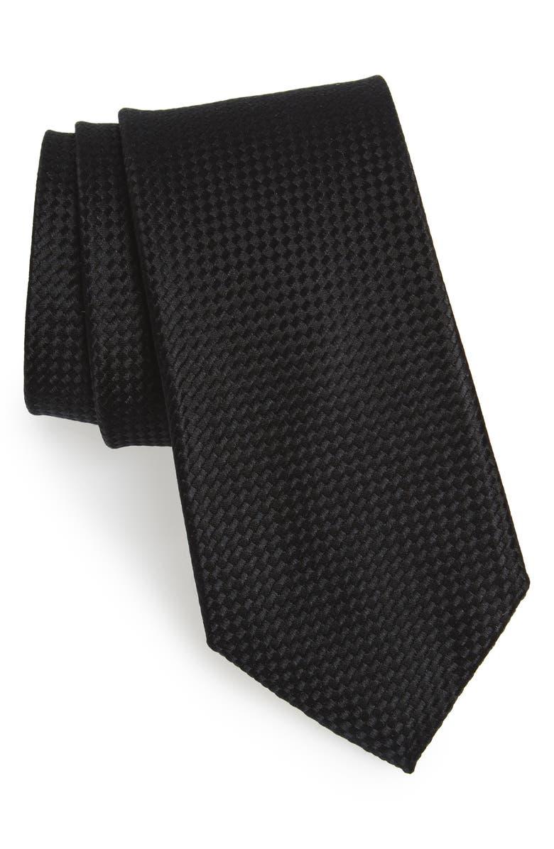 NORDSTROM MEN'S SHOP Check Silk Tie, Main, color, 001