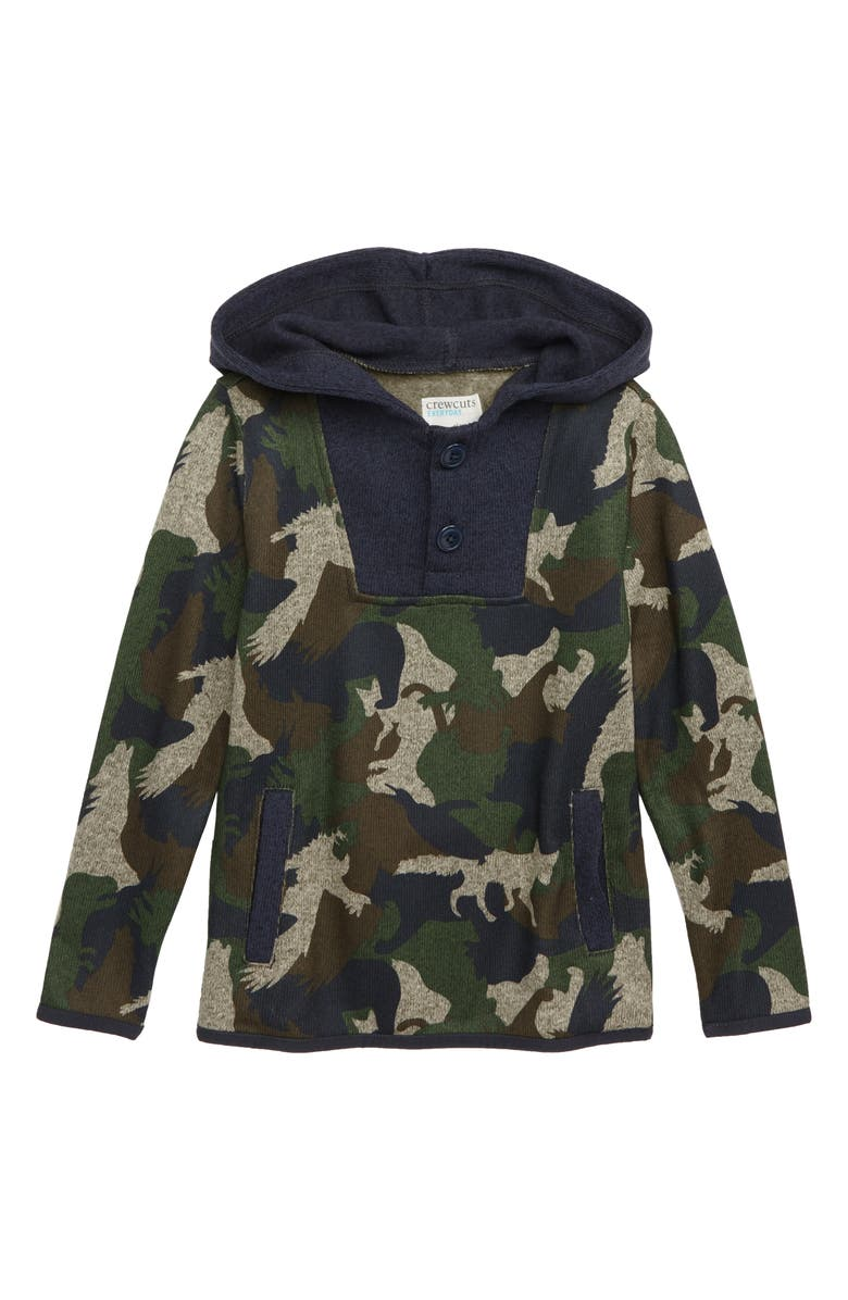 4fedaede09d4d crewcuts by J.Crew Summit Fleece Button-Up Pullover (Toddler Boys ...