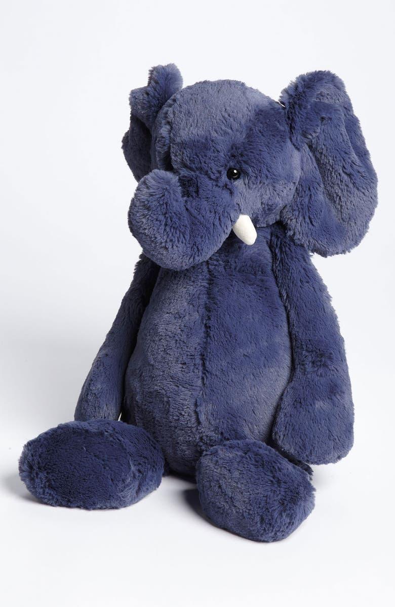 JELLYCAT 'Bashful Elephant' Stuffed Animal, Main, color, BLUE